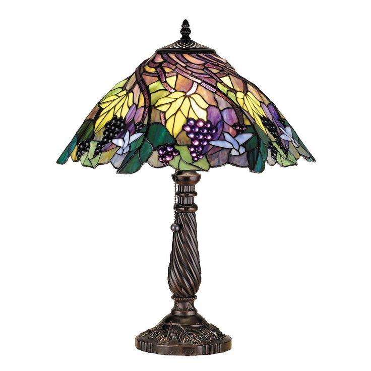Meyda 22 Inch H Spiral Grape (Purple) Table Lamp