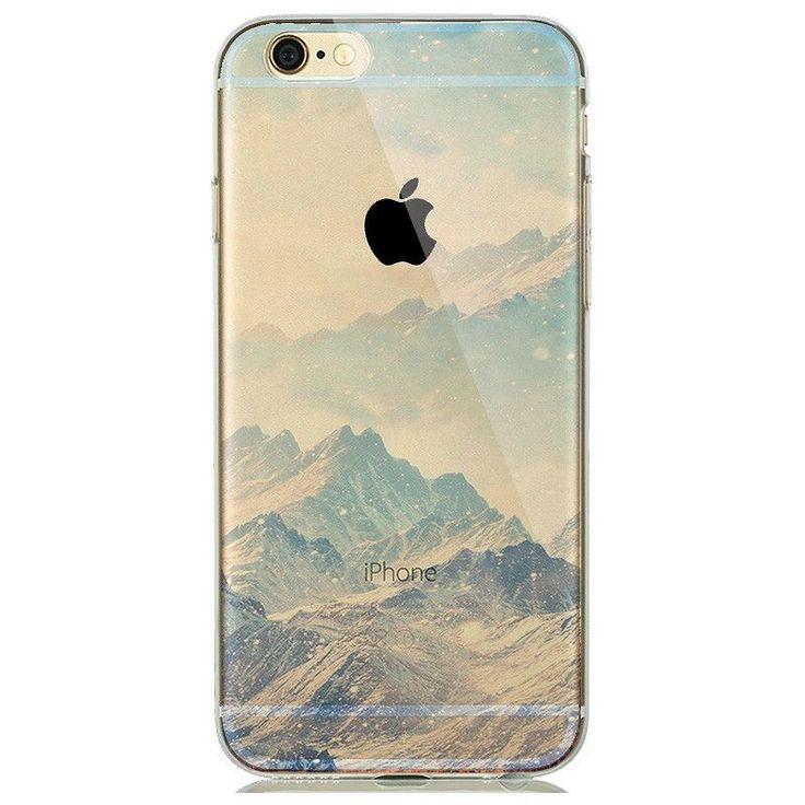 Soft Natural landscape Rubbery Phone Case for iphone 6 6s 5 5s SE Silicone Cover Effiel Tower Paris London City Capinhas para