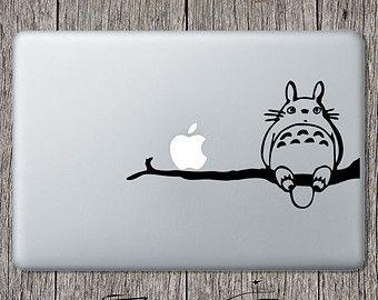 Totoro Decal Totorro autocollant pour Apple ordinateur portable Macbook Anime vinyle voiture fenêtre Sticker Mural