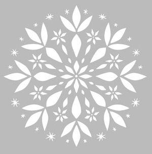 Pochoir adhésif repositionnable de fabrication artisanale française dans une matière PVC grise souple, résistante et lavable. Résiste à de multiples utilisations, s'adapte à la plupart des supports à