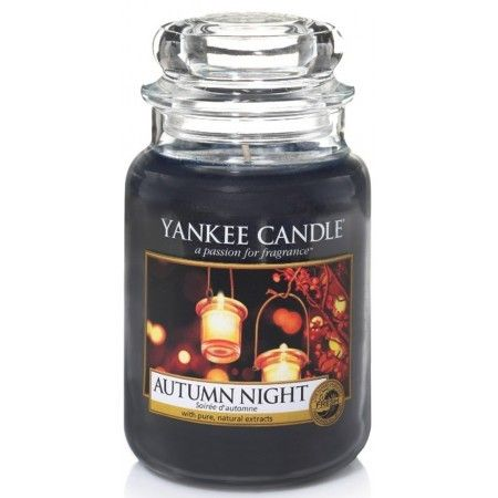 Yankee Candle 2016 Harvest Time - Autumn Night. Deep woody notes joined by lavender and fruity bergamot.
