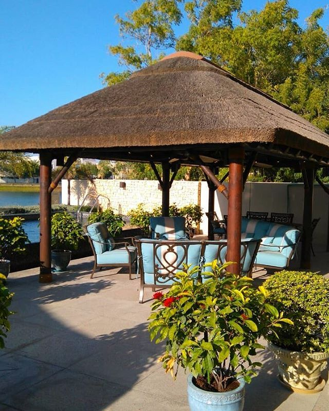 Outdoor Kitchen With Thatched Gazebo Outdoor In 2019: Pin By Molomo Molapo On Thatched House In 2019