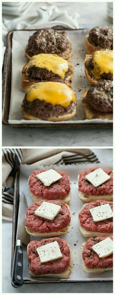 Broiled hamburgers