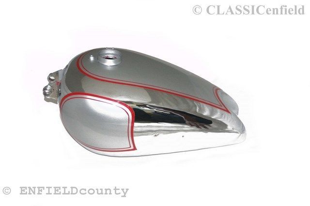 BSA ZB32 GOLDSTAR SILVER PAINTED RED STRIPED PETROL FUEL GAS TANK