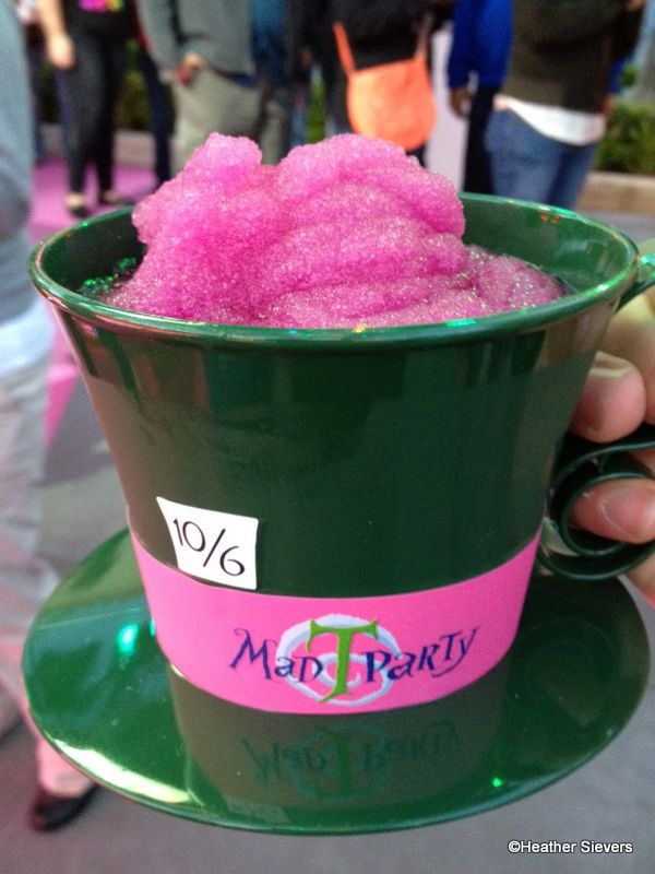 Mad T Party Drinks and Eats at Disney California Adventure...I wish it was bigger.