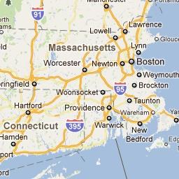 New England fall leaf map