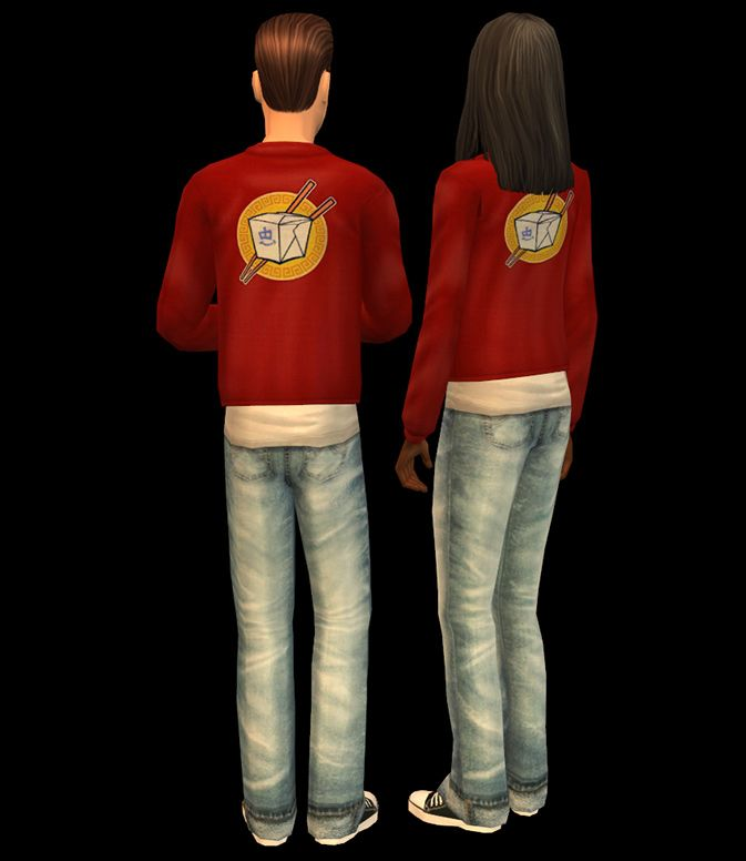 Mod The Sims - Chinese Delivery Uniforms - replacement