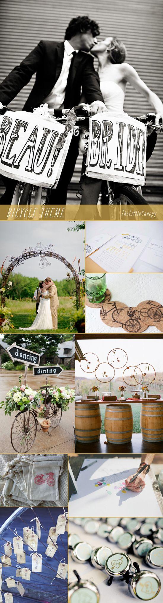 Los temas de las bodas pueden surgir de lo que gustes, si no, mira esta boda con temática de bicicletas y un ligero toque francés ¡oh la la! #Bodas #Temáticas #Bicicletas