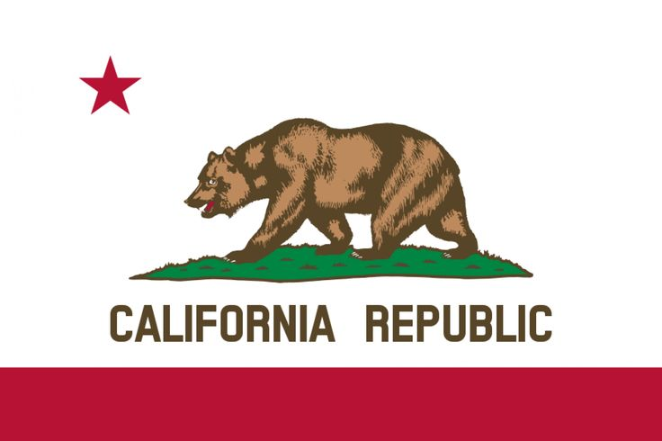 """Okay, California. Half credit for containing a bear. But you have not been a Republic since 1846, so this flag is misleading. I guess the words """"California Republic"""" were necessary because otherwise you could be mistaken for something having to do with the Soviet Union."""