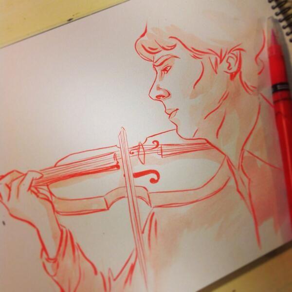 Twitter  @Pernille Ørum #sketch_dailies  #Sherlock
