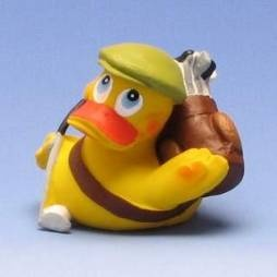 Golfer rubber duck