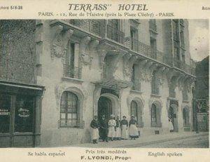 E And T Builders Kinsale Terrass Hôtel rue Joseph de Maistre. Montmartre - Paris http://www ...