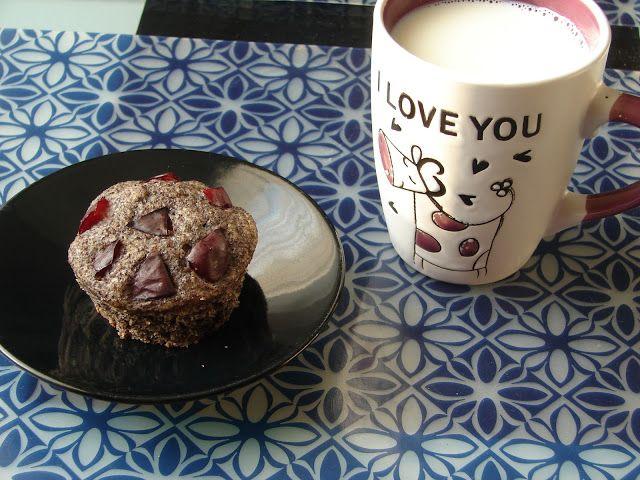 Můj blond blog: Makové muffiny se švestkami