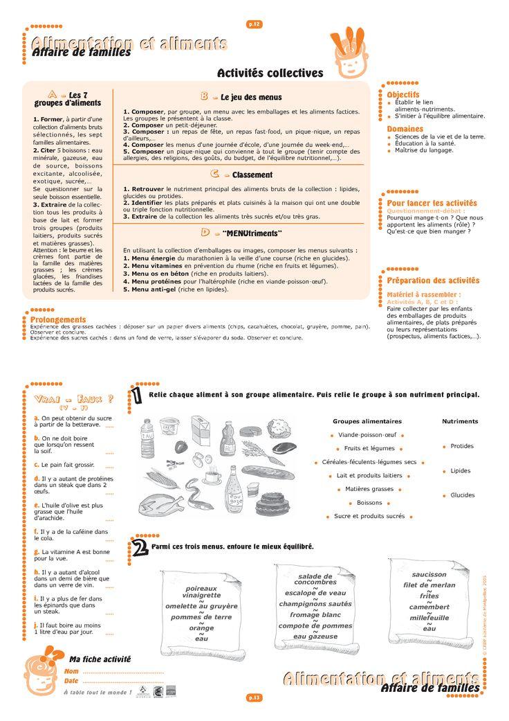 Deux dossiers (cycle 1-2 et cycle 3) pour découvrir les familles d'aliments, la notion d'équilibre alimentaire ainsi que l'impact de l'alimentation sur notre santé.