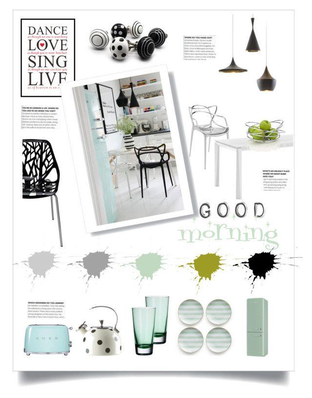 good morning by levai-magdolna on Polyvore featuring interior, interiors, interior design, home, home decor, interior decorating, Nuevo, Domitalia, Kartell and Tom Dixon