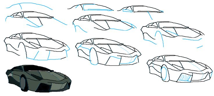 How To Draw A Lamborghini Reventon Tekenen Pinterest