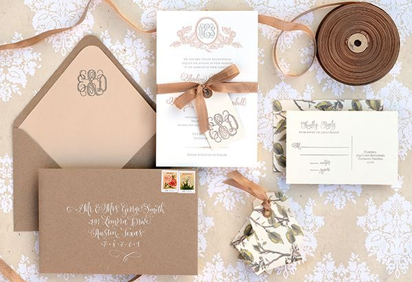 DIY Tutorial: Savannah-Inspired Wedding Invitations by Antiquaria via Oh So Beautiful Paper