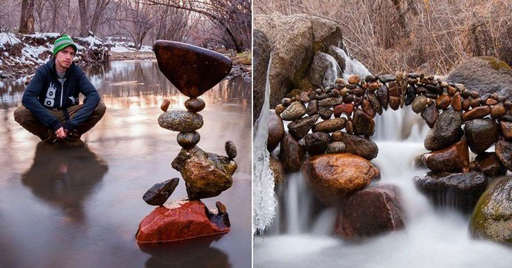 Increíble arte con piedras desafiando a la gravedad