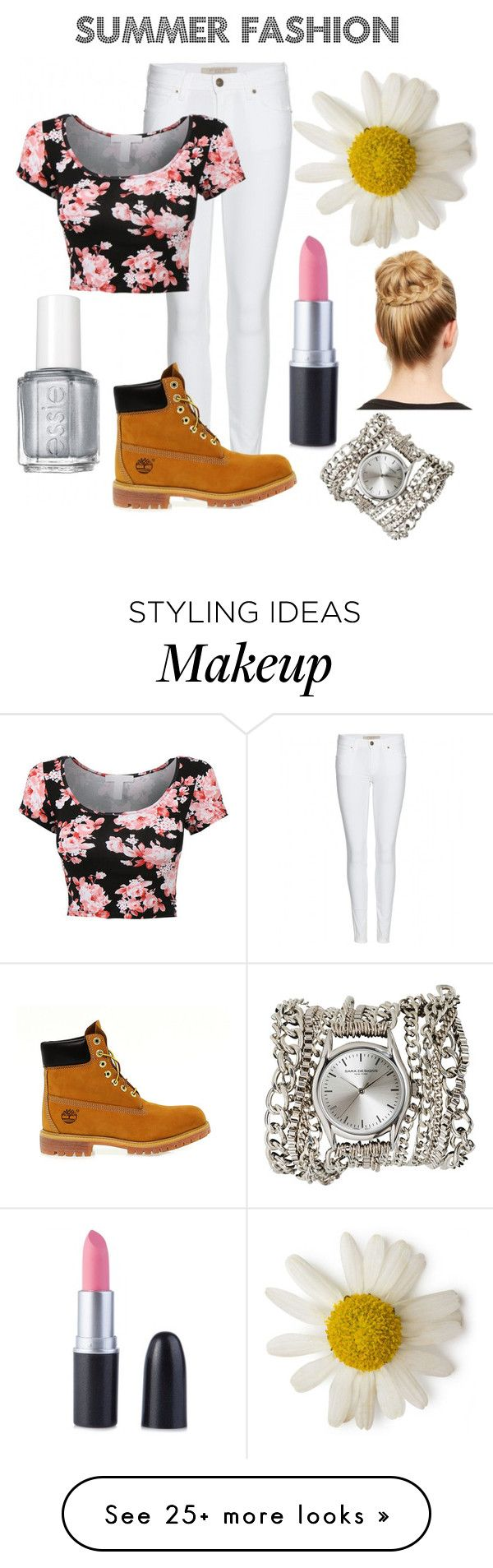 """""""Fab Outfit"""" by josiegoss on Polyvore featuring mode, Burberry, Timberland, Essie et Sara Designs"""