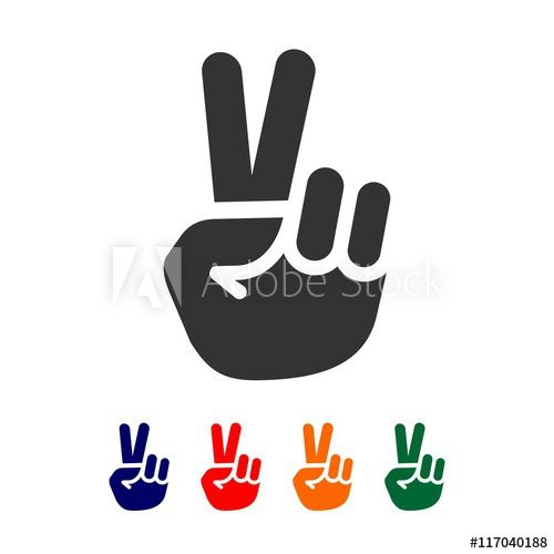 Vector Peace Sign Hand Showing Two Fingers Logo Design Template Buy This Stock Vector And Explore Simila Logo Design Template Peace Sign Hand Logo Design