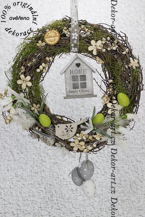 #dekorační #velikonoční přírodní #věnec.
