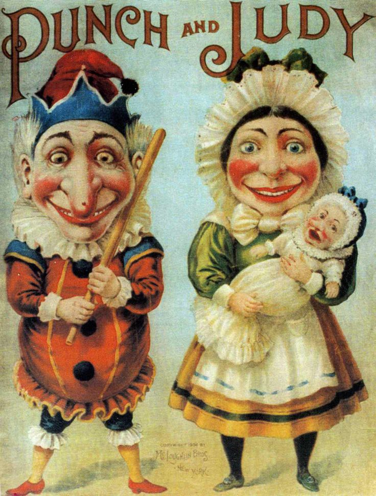 Punch and Judy poster artist unknown