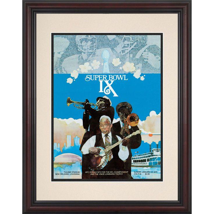 "Fanatics Authentic 1975 Steelers vs. Vikings Framed 8.5"" x 11"" Super Bowl IX Replica Program - $59.99"