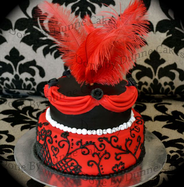 burlesque party ideas | BURLESQUE THEME CAKE - everything that says burlesque, Red, Black ...