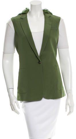 Elizabeth and James Notch Lapel Single-Button Vest w/ Tags