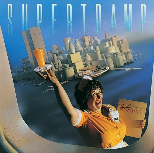 © Photo Mark Hanauer. Album Cover of Breakfast in America the British band Supertramp, 1979.