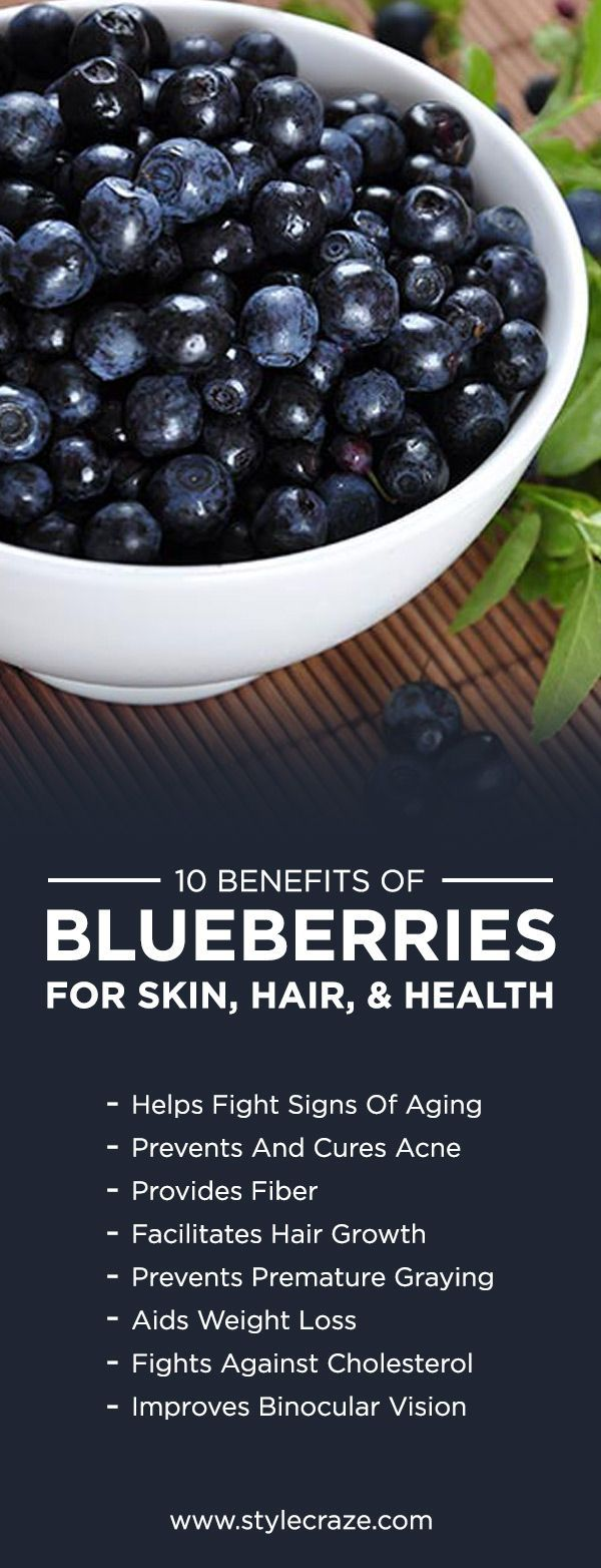 The delicious fruit blueberry is amazingly known for its benefits. Here is the list of the top 10 blueberry benefits for skin, hair & health for you to know