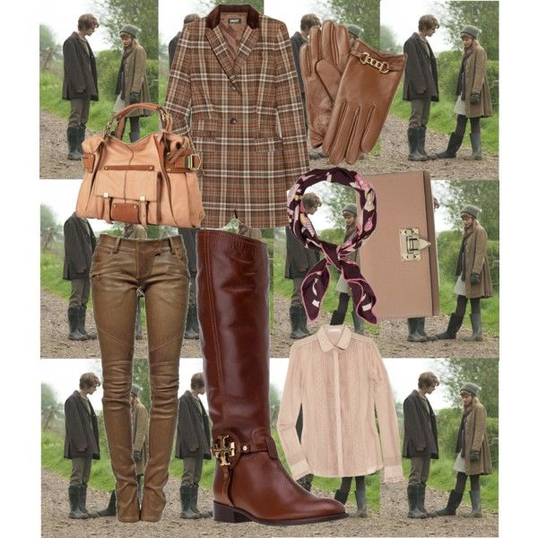 A Weekend in the British Country: Boot Competition Entry by shhh94 on Polyvore featuring Paul & Joe Sister, DKNY, Balmain, Tory Burch, Kooba, Valentino, Reiss, Salvatore Ferragamo, country and top handle bags