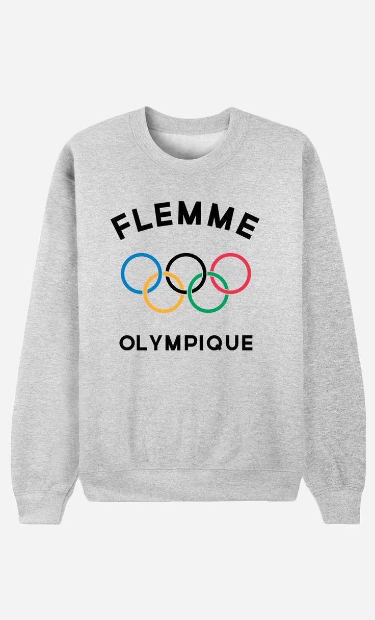 """Résultat de recherche d'images pour """"flemme olympique sweat"""""""