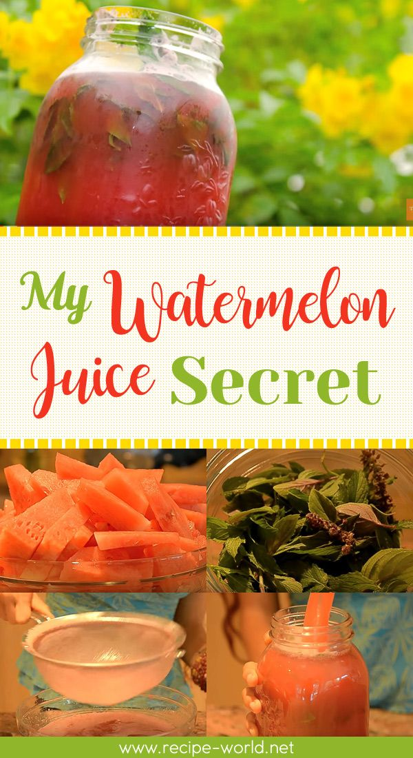 My Watermelon Juice Secret♨http://recipe-world.net/my-watermelon-juice-secret/?i=p