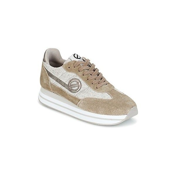 No Name EDEN JOGGER Shoes (€99) ❤ liked on Polyvore featuring shoes, beige, leather shoes, real leather shoes, jogging shoes, genuine leather shoes and no name shoes