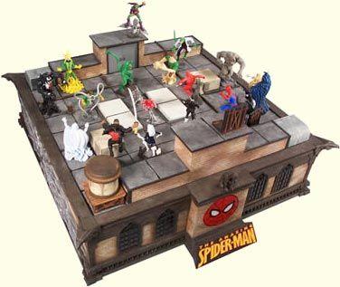Spiderman chess set