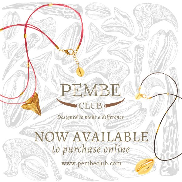 Buy your Pembe Club jewellery at www.pembeclub.com to help save our elephants