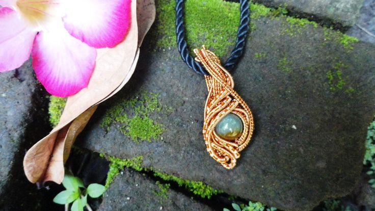 #wire_jewelry #stone_bead #copper_wire #pendant #stone_beads #jade_stone