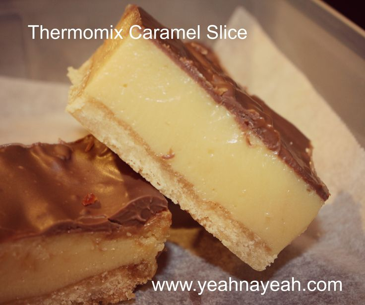 Thermomix Caramel Slice - YeahNaYeah.com .....put in silicone muffin molds for…