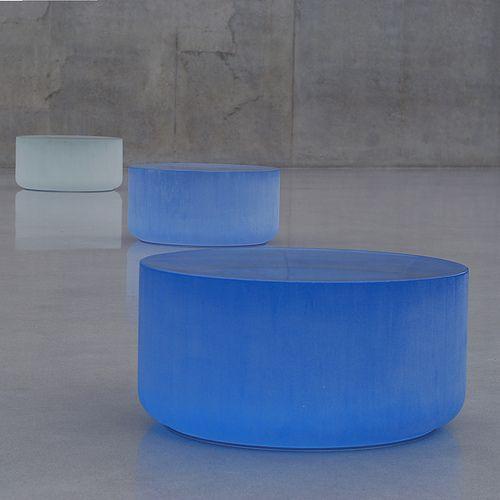minimalist glass sculpture installation imitating Icelandic ice