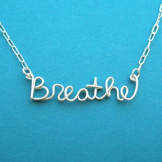 Breathe Necklace all sterling silver Cystic by PianoBenchDesigns, $31.00