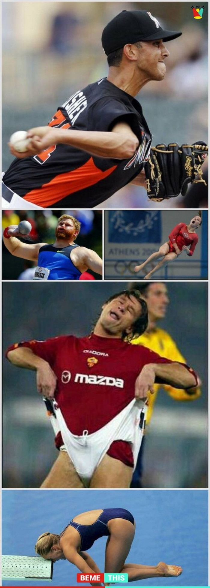 Funny Facial Expressions of Olympic Athletes