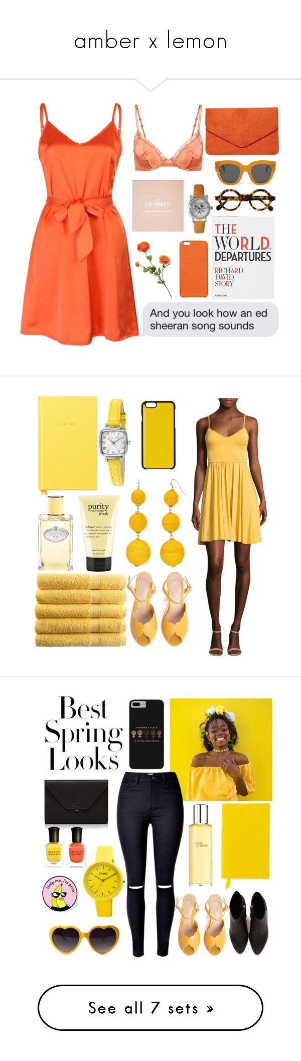 """""""amber x lemon"""" by kateknowles1 ❤ liked on Polyvore featuring WithChic, Assouline Publishing, Dorothy Perkins, Chaos, Olivia Pratt, Kate Spade, Prada, philosophy, Anne Klein and SPECIAL DAY"""