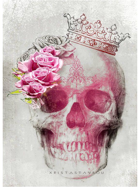 """Saatchi Art Artist: Xrista Stavrou; Digital 2013 Drawing """"Skull Art """""""