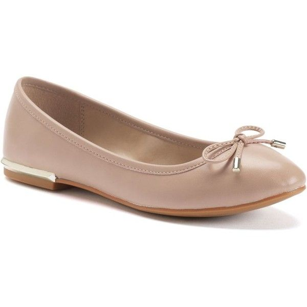 Apt. 9® Delight Women's Ballet Flats ($50) ❤ liked on Polyvore featuring shoes, flats, beige oth, ballerina pumps, dressy ballet flats, round toe ballet flats, ballet flat shoes and ballet shoes