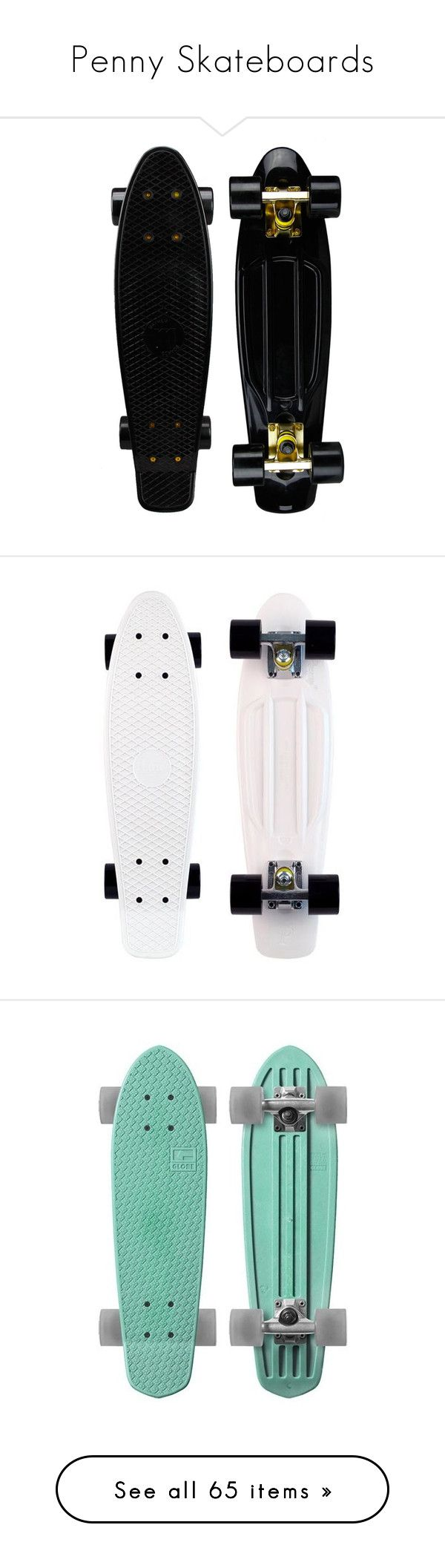 """Penny Skateboards"" by janettetang ❤ liked on Polyvore featuring fillers, skateboards, accessories, black, skate, misc, backgrounds, penny boards, other and skateboard"