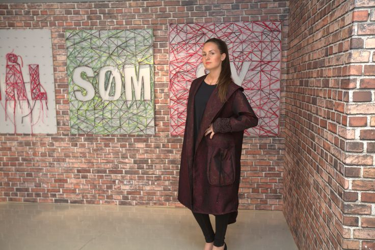 "Coat with creative pocket. Episode 2.   ""Det store symesterskapet"" NRK 1  (The great sewing competition)"