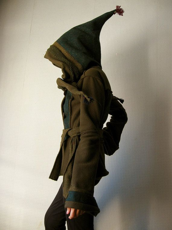 Forest Spirit Elven Jacket, with Pointy Pixie Hood, Made to Order via Etsy