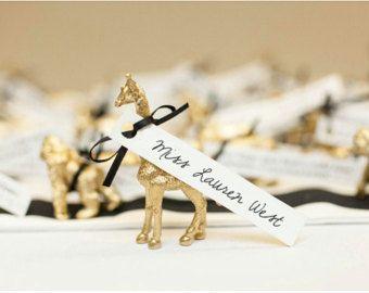 animal place card wedding - Etsy