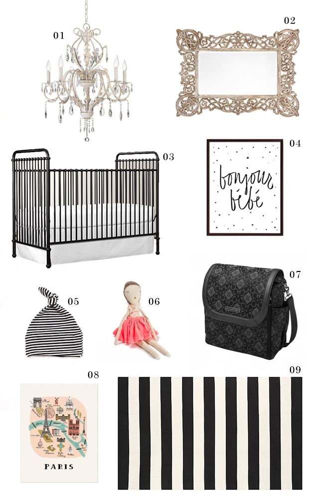 Parisian Nursery - French Nursery - Paris Inspired Nursery Theme - www.petunia.com/blog